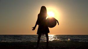 girl by ocean