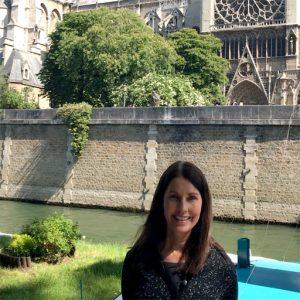 Maureen outside Notre Dame